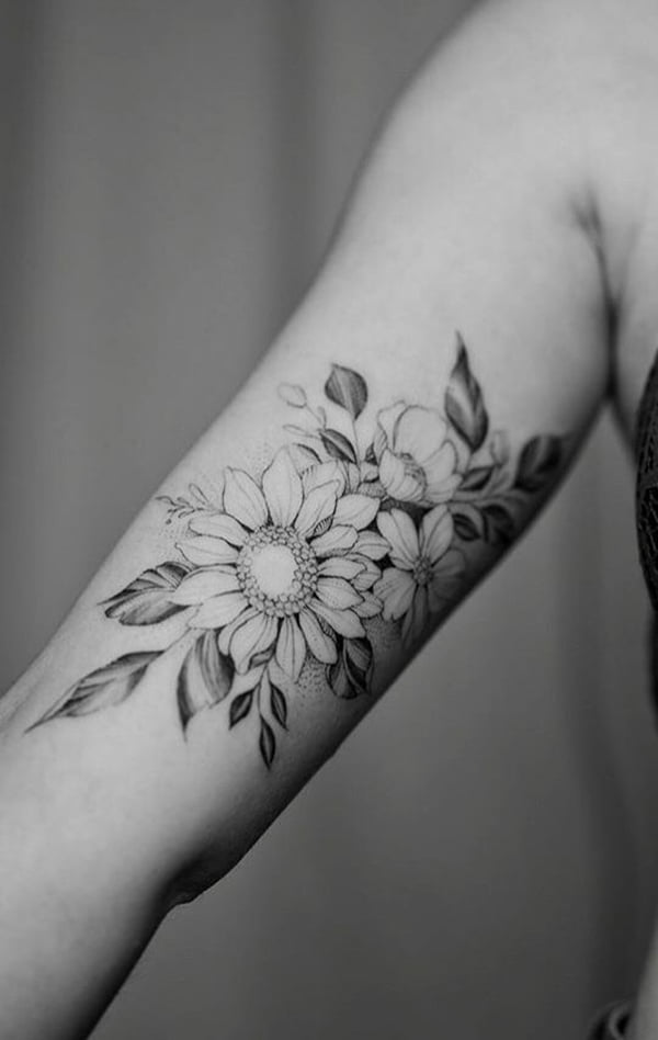 Flowers and Foliage in a Grayscale