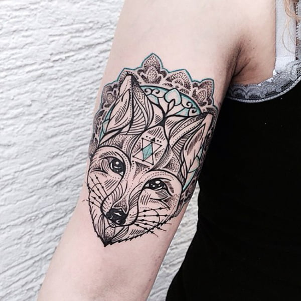 Artistic Fox Head and Patterns