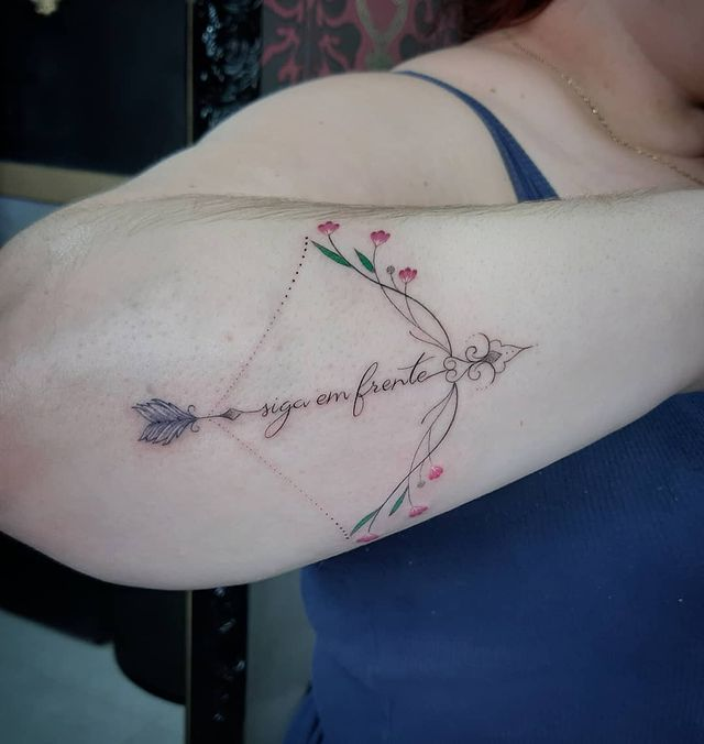 Abstract Sagittarius Constellation to Bow to Bouquet