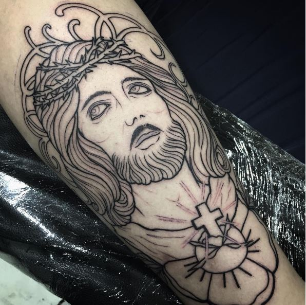 The Face of Jesus Christ Rising Up