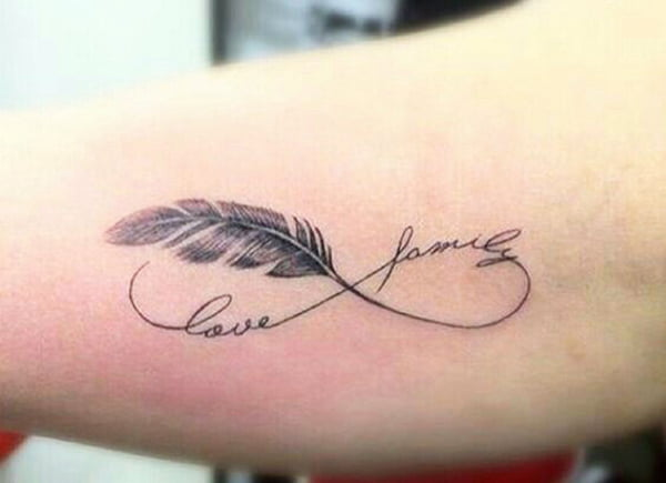 Love and Family Eternity Feather