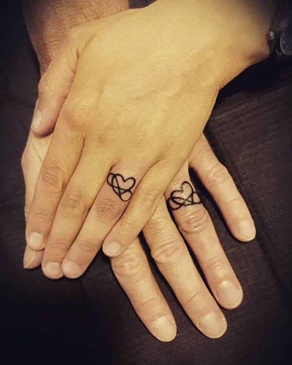 Love You Forever Wedding Ring Tattoos