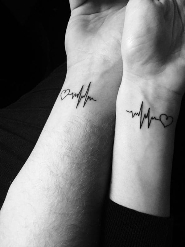 Two Hearts, One Beat Tattoo