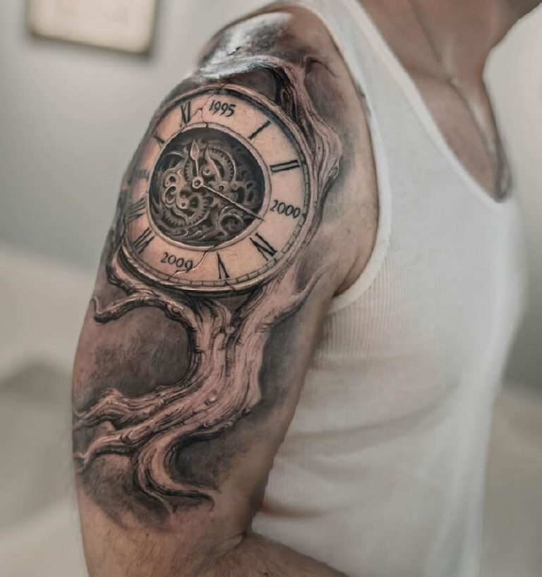 Steampunk Tree of Life Clock Concept