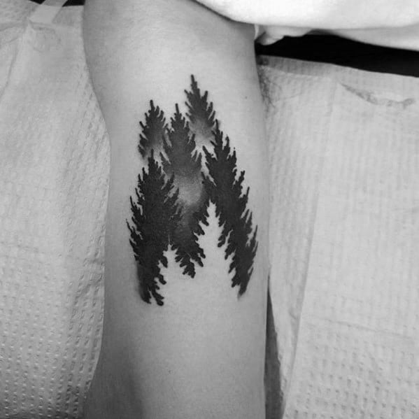 Optical Illusion Forest with Negative Space