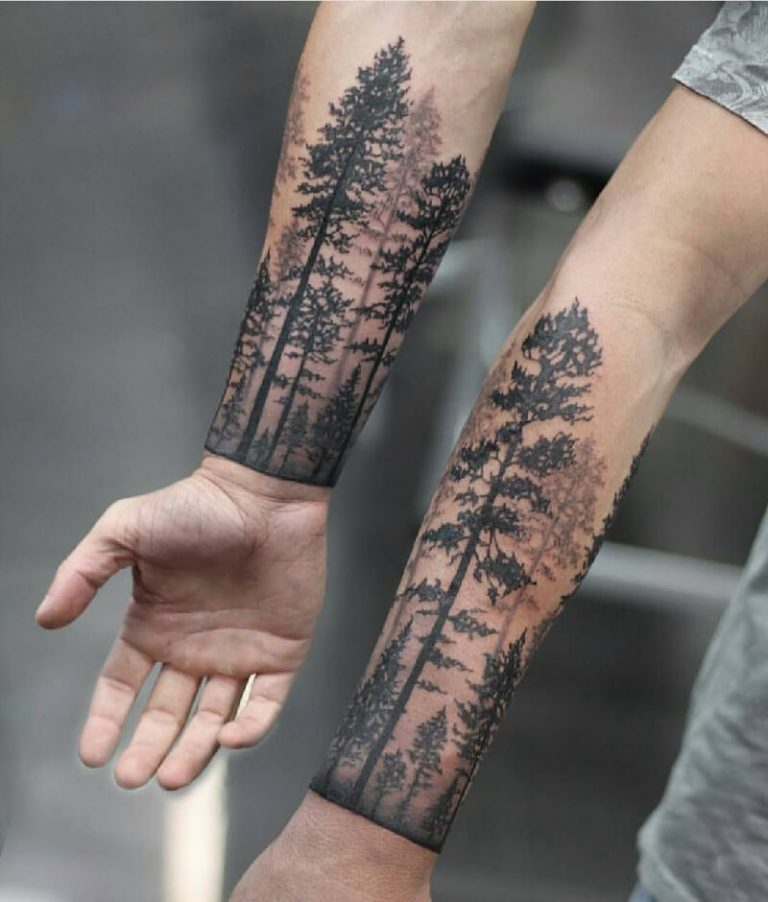 Matching Mystic Forest Forearm Sleeves