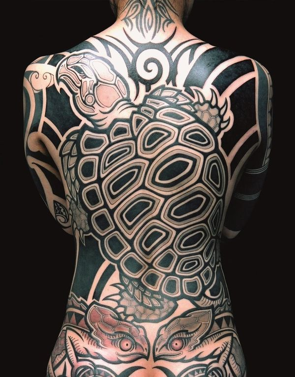 Massive Turtle Back Piece with Lizards